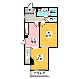 casa薮田[3階]の間取り