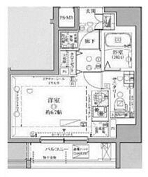 東急池上線 戸越銀座駅 徒歩6分の賃貸マンション 7階ワンルームの間取り