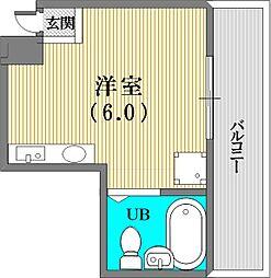 平野エスペランス[603号室]の間取り