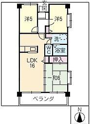 ノース スクエア[8階]の間取り