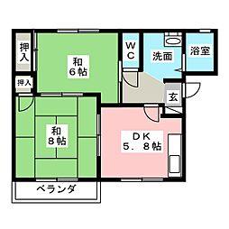 クレインハウス90  B[2階]の間取り