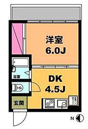 月村マンションNo.1[2階]の間取り