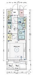Osaka Metro谷町線 天神橋筋六丁目駅 徒歩3分の賃貸マンション 3階1Kの間取り
