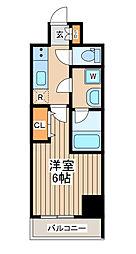 レアマークス横濱弐番館 3階1Kの間取り