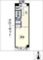 フレンドハイツ瀬戸[3階]の間取り