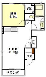 メロウ・ウィステリア[1階]の間取り