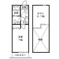 コモハイツ宮崎台[3階]の間取り
