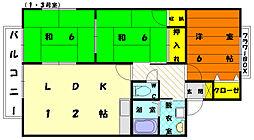 セジュール・E・D・M[2階]の間取り