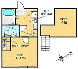 神奈川県相模原市中央区小山3丁目の賃貸アパートの間取り