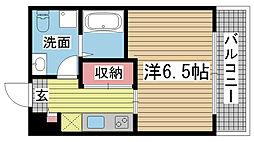 パロス須磨戸政町[102号室]の間取り