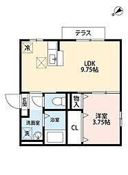 福岡県北九州市門司区大久保2丁目の賃貸アパートの間取り