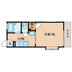 静岡県静岡市駿河区鎌田の賃貸アパートの間取り