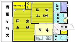 [一戸建] 福岡県福岡市東区奈多2丁目 の賃貸【/】の間取り