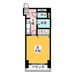 ラ・ガール小田井[2階]の間取り