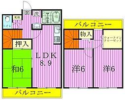 キャッスル北松戸[6階]の間取り