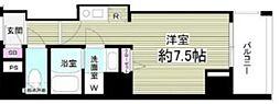 東京メトロ東西線 門前仲町駅 徒歩5分の賃貸マンション 3階ワンルームの間取り
