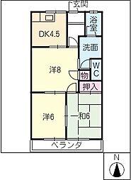 ピアシティ[4階]の間取り