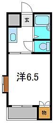 ハイツオークス[4階]の間取り