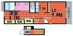 岡山県倉敷市上富井丁目なしの賃貸アパートの間取り