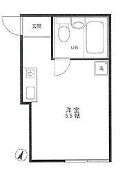 東京都板橋区赤塚6丁目の賃貸アパートの間取り