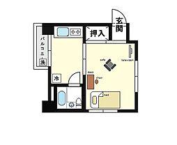 家具・家電付き コーポM[2階]の間取り