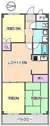 イプシロンC棟 315[3階]の間取り