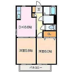 ラークハイム C棟[2階]の間取り