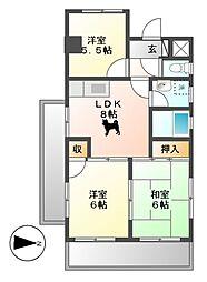 マジェスティーハイツ御成[4階]の間取り