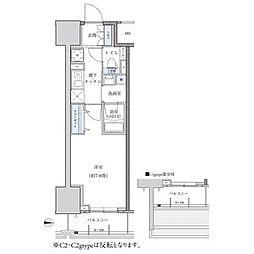 パークアクシス新栄 4階1Kの間取り