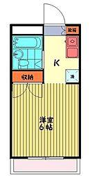 サンハイツミキ[B101号室]の間取り