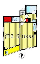 アビタシオン新宿[2階]の間取り