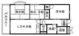 富士山荘[103号室]の間取り