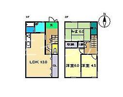 [一戸建] 高知県高知市神田 の賃貸【/】の間取り
