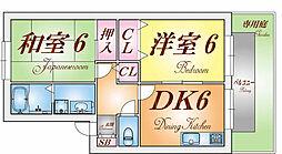 イルマーレ須磨浦[1階]の間取り