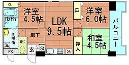 ドエル北堀江[7階]の間取り