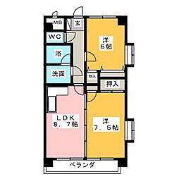 ボン・メゾン[2階]の間取り