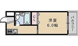 ジョイテル西田辺I[304号室]の間取り