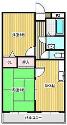 リック・リベーラコート[4階]の間取り
