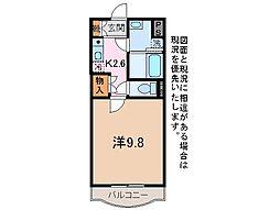山梨県甲府市富士見2丁目の賃貸アパートの間取り