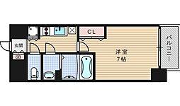 ファーストステージ江戸堀パークサイド[701号室]の間取り