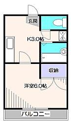 カーサヨコタII[2階]の間取り