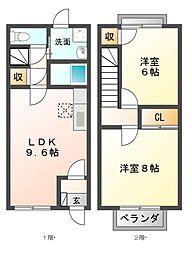 [テラスハウス] 滋賀県東近江市佐生町 の賃貸【/】の間取り
