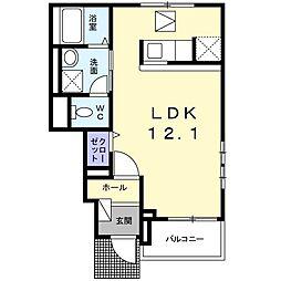 ラパンノアール[1階]の間取り