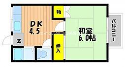 コーポ大元A[2階]の間取り