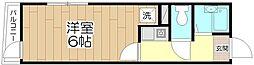 オペラシオンボォヌール竹の塚[203号室]の間取り