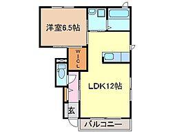 静岡県富士市森下の賃貸アパートの間取り