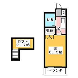 上島ロイドアパートC[2階]の間取り