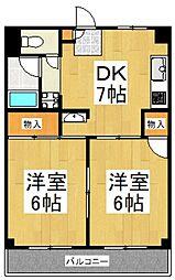シャトーハイツ[4階]の間取り