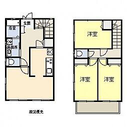 [タウンハウス] 神奈川県横浜市都筑区すみれが丘 の賃貸【/】の間取り