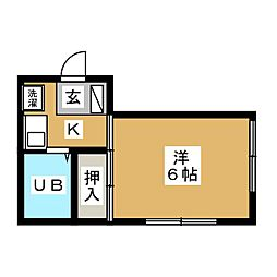 ピュアスト草薙[1階]の間取り